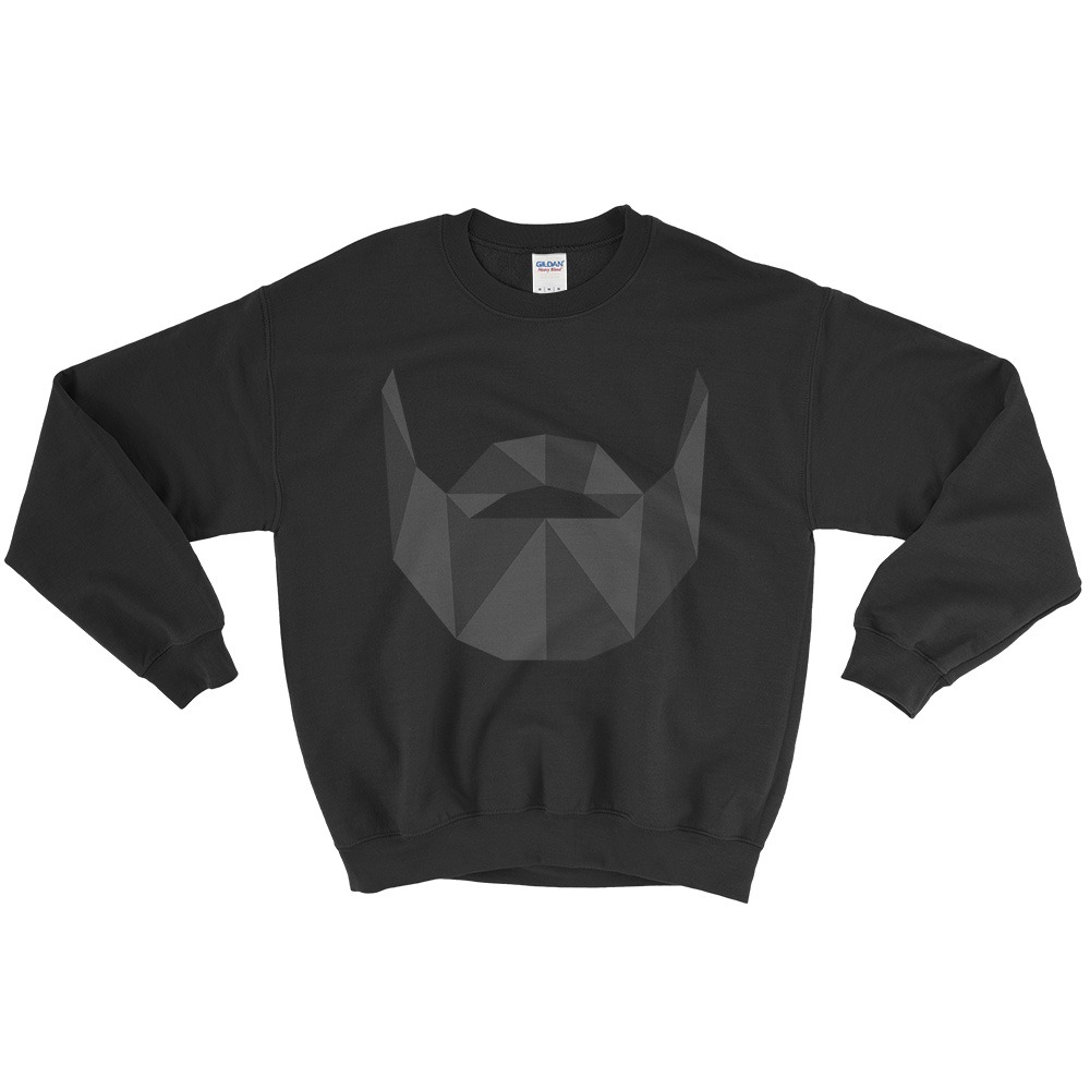Beard Profile Crewneck Sweatshirt
